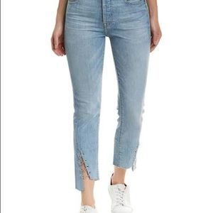 7 for all mankind Edie Angled Metal Rings Jeans